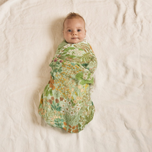 Load image into Gallery viewer, Mint Meadow | Bamboo + Organic Cotton Swaddle