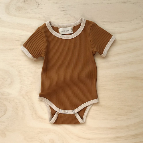 Mustard | Retro Ribbed Bodysuit