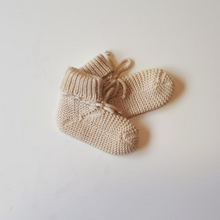 Load image into Gallery viewer, Merino Knit Booties | Baby Merino Booties NZ | Merino Wool Baby Booties