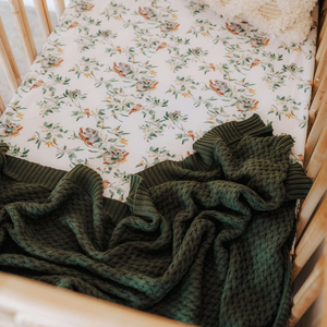 Olive | Diamond Knit Baby Blanket