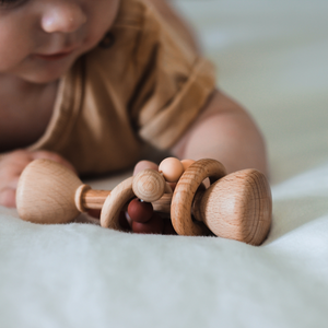 Peachy Pink | Wooden Rattle