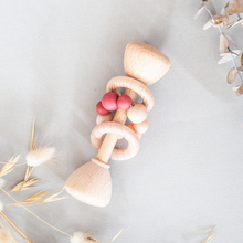 Load image into Gallery viewer, Peachy Pink | Wooden Rattle
