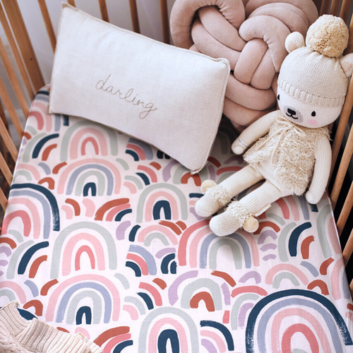 Rainbow Baby | Fitted Cot Sheet