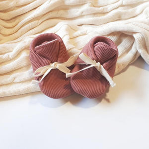Rosewood | Rib Newborn Kids Booties