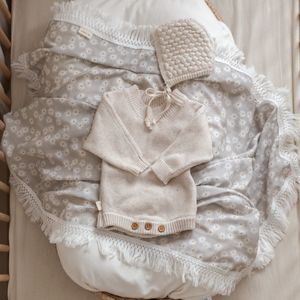 Sage Mini Daisy | Fringe Swaddle