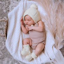 Load image into Gallery viewer, White | Diamond Knit Baby Blanket