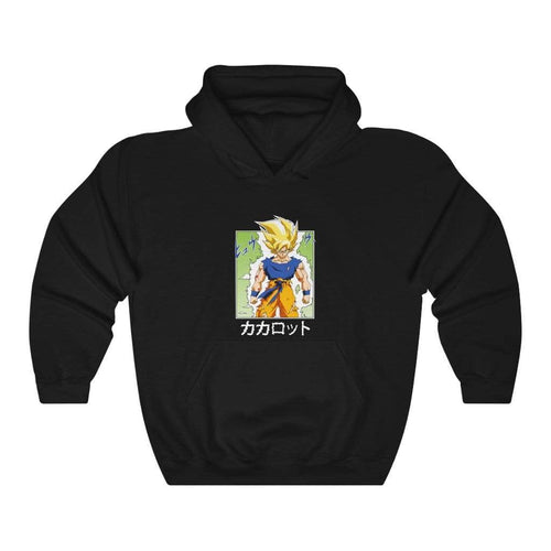 Black Color Comic Goku Hoodie
