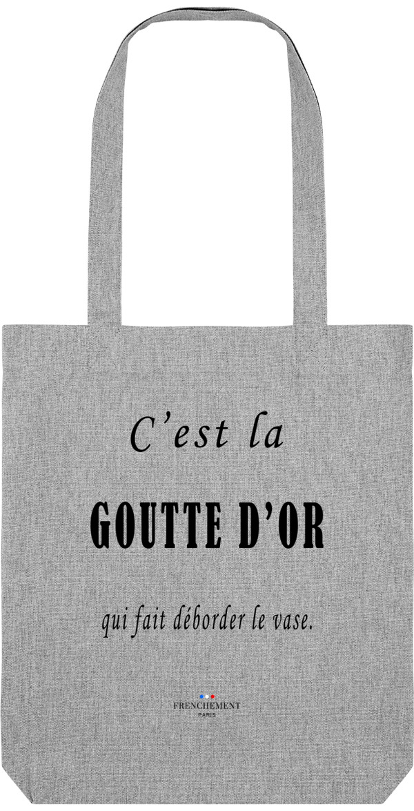C'EST LA GOUTTE-D'OR | TOTE BAG BIO - Frenchement