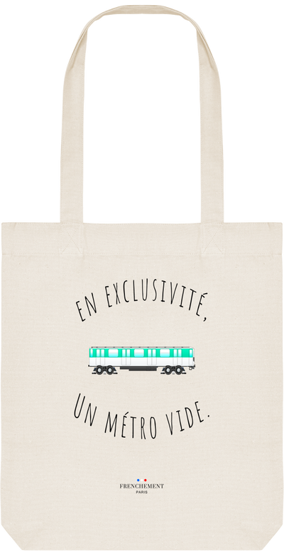 UN MÉTRO VIDE | TOTE BAG BIO - Frenchement