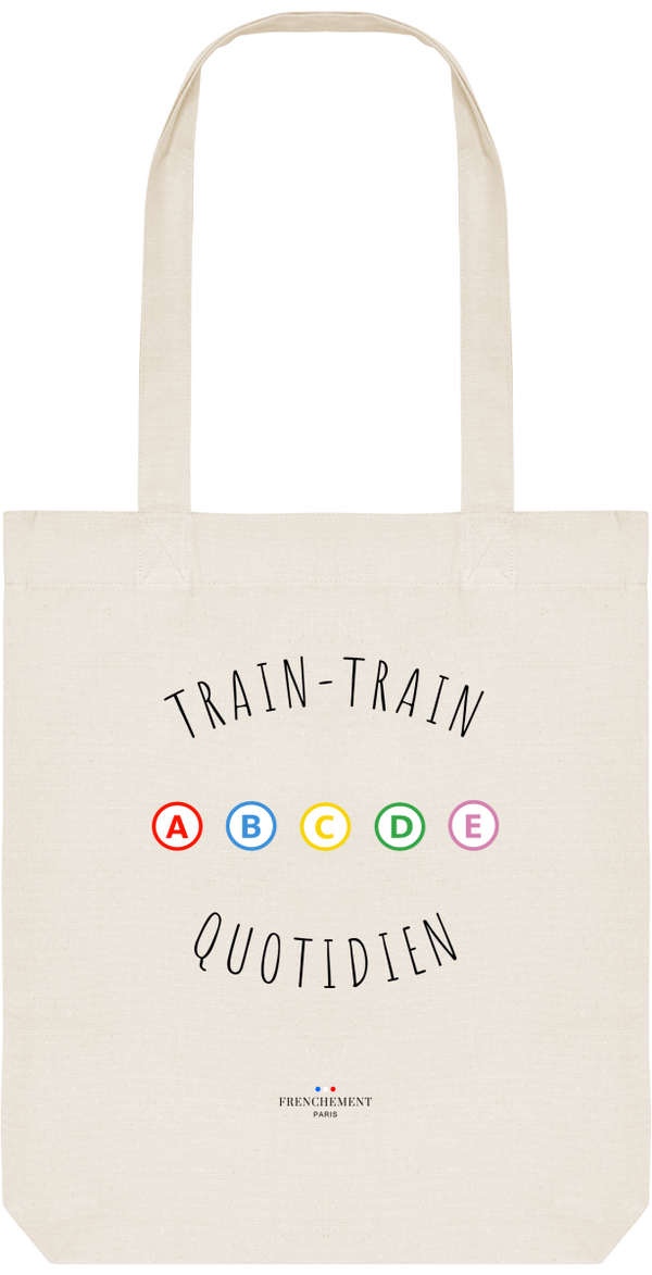 TRAIN-TRAIN QUOTIDIEN | TOTE BAG BIO - Frenchement