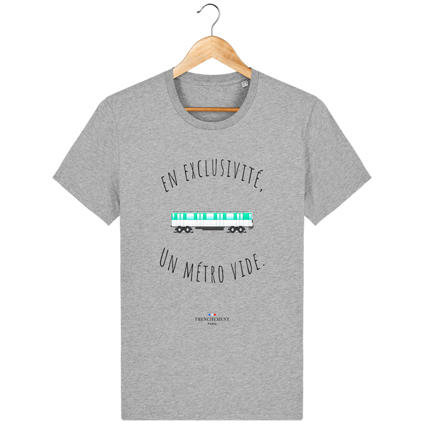 UN MÉTRO VIDE | T-SHIRT HOMME BIO - Frenchement
