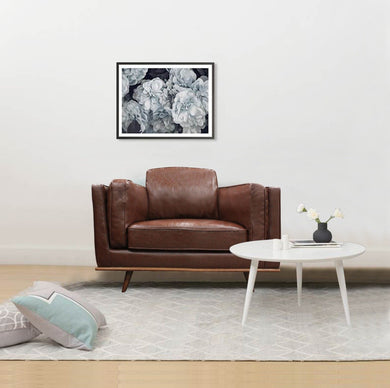 1 Seater Stylish Leatherette Brown York Sofa - Factory To Home - Furniture