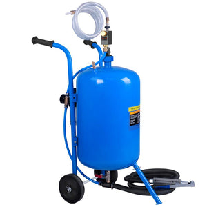 100LB Portable Soda/Sand Blaster - Blue - Factory To Home - Tools