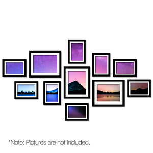 11 PCS Photo Frame Wall Collage Black - Factory To Home - Home & Garden