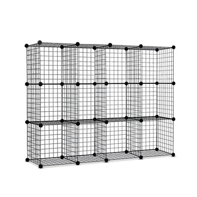 12 Cube Mesh Wire Storage Cabinet - Factory To Home - Home & Garden