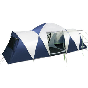 12 Person Canvas Dome - Navy & Grey - Factory To Home - Outdoor