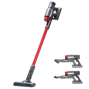 150W Cordless Vacuum Cleaner - Red and Grey - Factory To Home - Appliances