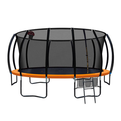 16FT Trampoline With Basketball Hoop - Orange - Factory To Home - Gift & Novelty