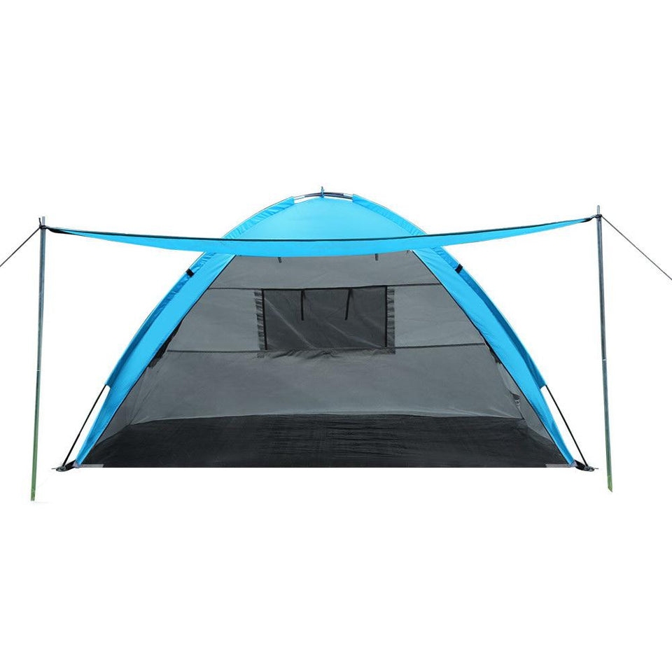 2-4 Person Camping Tent - Blue - Factory To Home - Outdoor