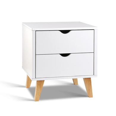 2 Drawer Wooden Bedside Tables - White - Factory To Home - Furniture