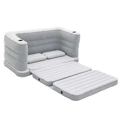 2 in 1 Inflatable Sofa Bed - Grey - Factory To Home - Home & Garden