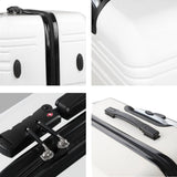 2 Piece Lightweight Hard Suit Case Luggage Black & White - Factory To Home - Home & Garden