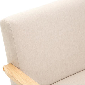 2 Seater Fabric Sofa Chair - Beige - Factory To Home - Furniture
