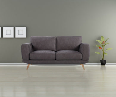 2 Seater Modern Brown Alaska Sofa - Factory To Home - Furniture