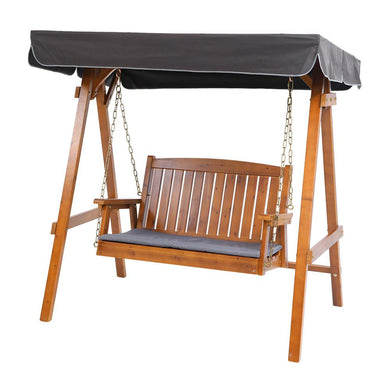 2 Seater Wooden Swing Chair Canopy - Factory To Home - Home & Garden