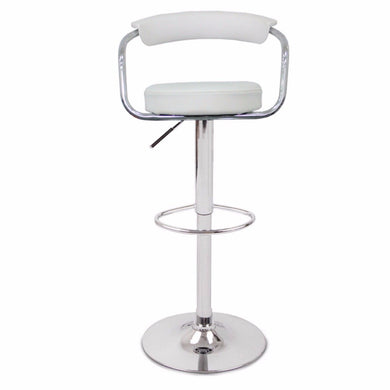 2 x GINA BAR STOOL WHITE - Factory To Home - Furniture