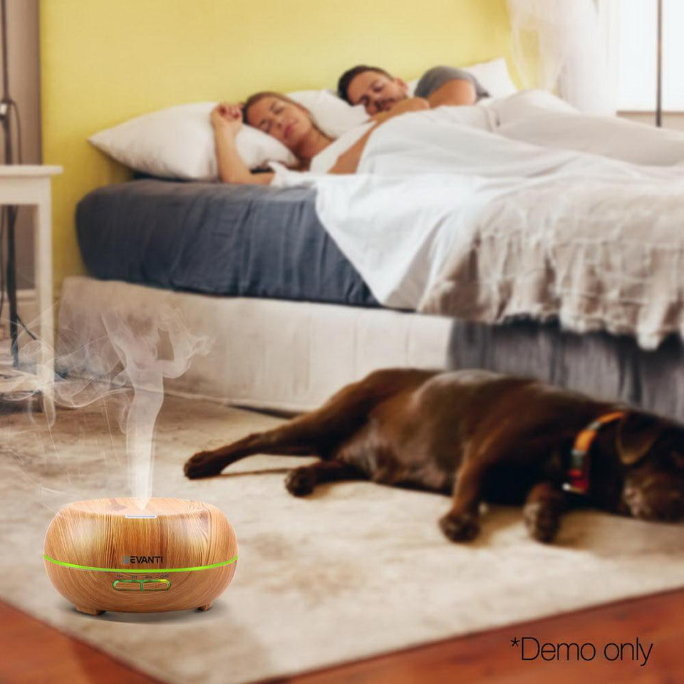 200ml 4 in 1 Aroma Diffuser - Light Wood - Factory To Home - Appliances