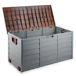 290L Outdoor Storage Box - Brown - Factory To Home - Home & Garden