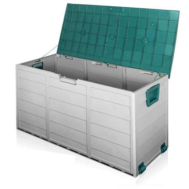 290L Outdoor Storage Box - Green - Factory To Home - Home & Garden