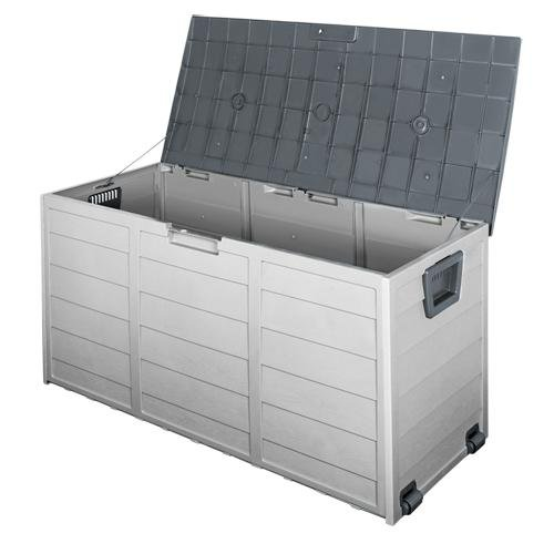 290L Outdoor Storage Box - Grey - Factory To Home - Home & Garden