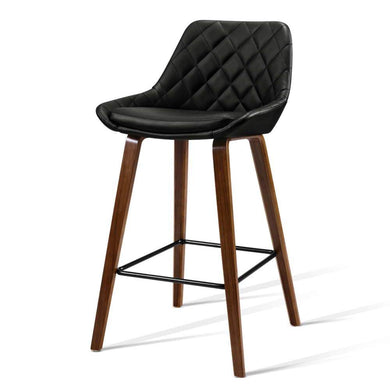 2x Bentwood Kitchen & Bar Stools - Black - Factory To Home - Furniture