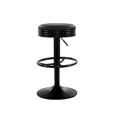 2x Gas Lift Kitchen Bar Stools - Black - Factory To Home - Furniture