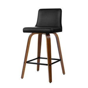 2x Kitchen Wooden Bar Stools - Black - Factory To Home - Furniture