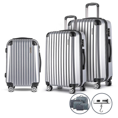 3 Piece Luggage Trolley - Silver - Factory To Home - Home & Garden
