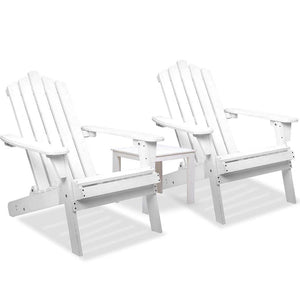 3 Piece Wooden Outdoor Chair and Table Set - Factory To Home - Furniture