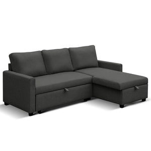 3 Seater Corner Sofa Bed - Charcoal - Factory To Home - Furniture
