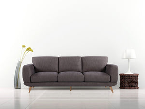 3 Seater Modern Brown Alaska Sofa - Factory To Home - Furniture