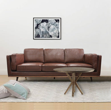3 Seater Stylish Leatherette Brown York Sofa - Factory To Home - Furniture