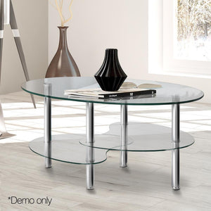 3 Tier Coffee Table - Glass - Factory To Home - Furniture