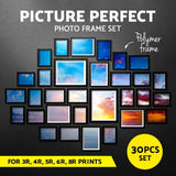 30 PCS Photo Frame Wall Collage Black - Factory To Home - Home & Garden