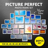 30 PCS Photo Frame Wall Collage White - Factory To Home - Home & Garden