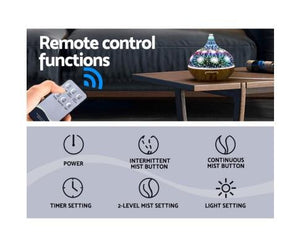 3D LED Night Light & Firework Humidifier - 400ml Remote Control - Factory To Home - Appliances