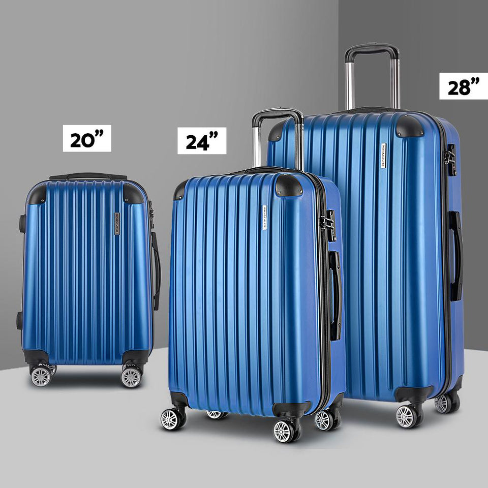 3pc Luggage Sets Lightweight - Blue - Factory To Home - Home & Garden
