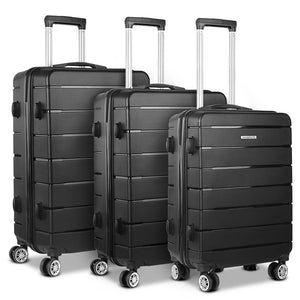 3PC Luggage Trolley - Black - Factory To Home - Home & Garden