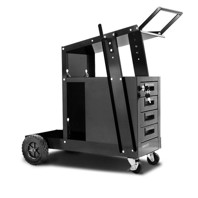 4 Drawer Welding Trolley - Black - Factory To Home - Tools