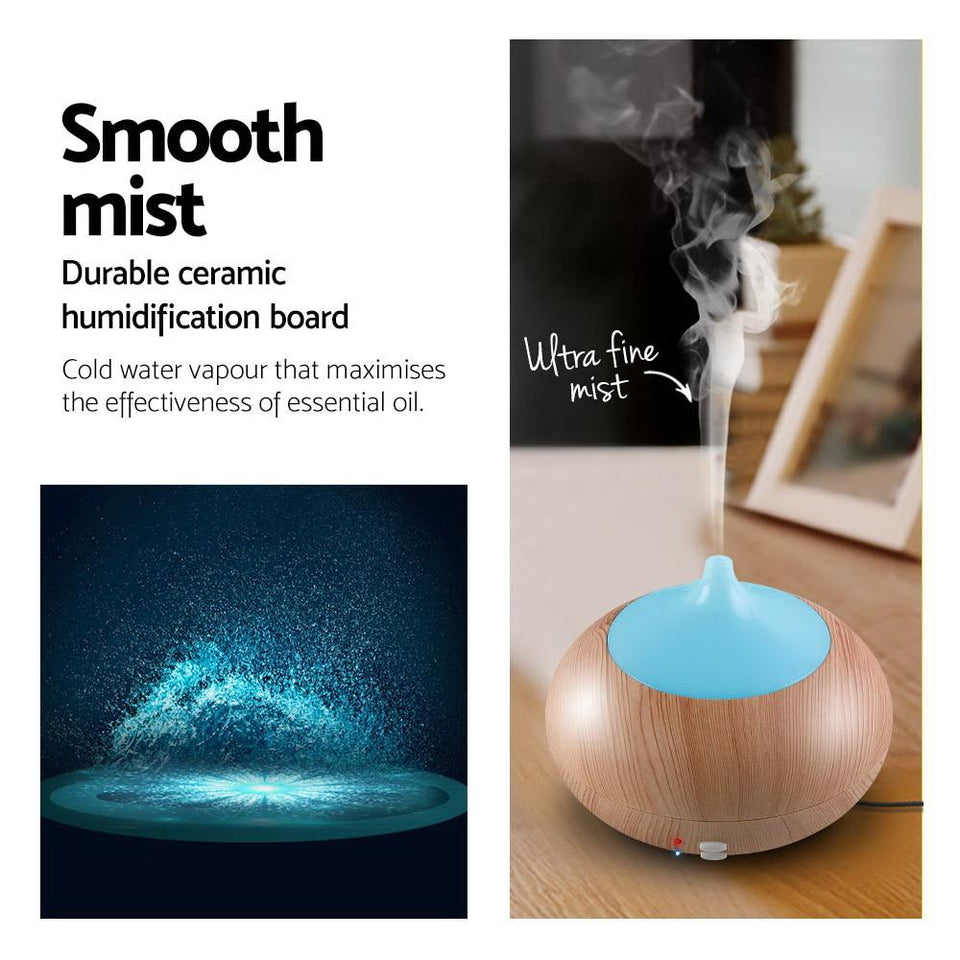 4 in 1 Aroma Diffuser 300ml - Light Wood - Factory To Home - Appliances